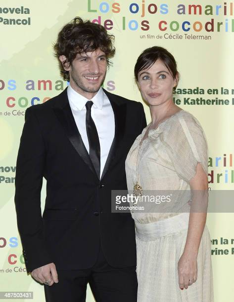 Quim Gutierrez and Emmanuelle Beart attend the 'Los Ojos Amarillos de los Cocodrilos' premiere the Academia del Cine on April 30 2014 in Madrid Spain