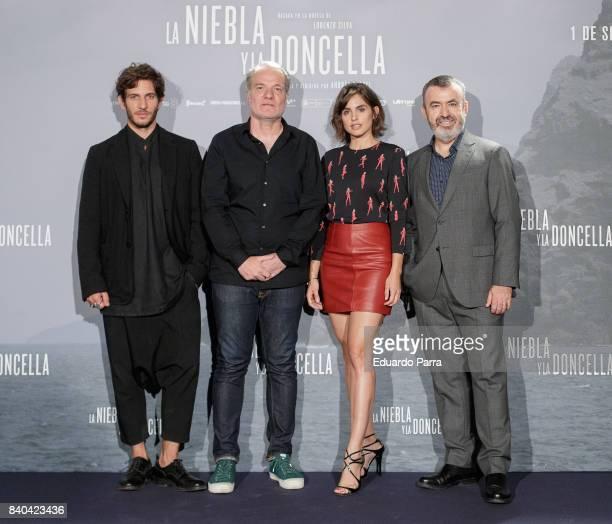 Quim Gutierrez Andres M Koppel Veronica Echegui and Lorenzo Silva attend the 'La niebla y la doncella' photocall at Urso hotel on August 29 2017 in...