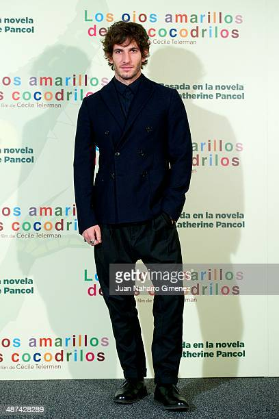 Quim Gutierrez attends 'Los Ojos Amarillos de los Cocodrilos' photocall at Santo Mauro Hotel on April 30 2014 in Madrid Spain