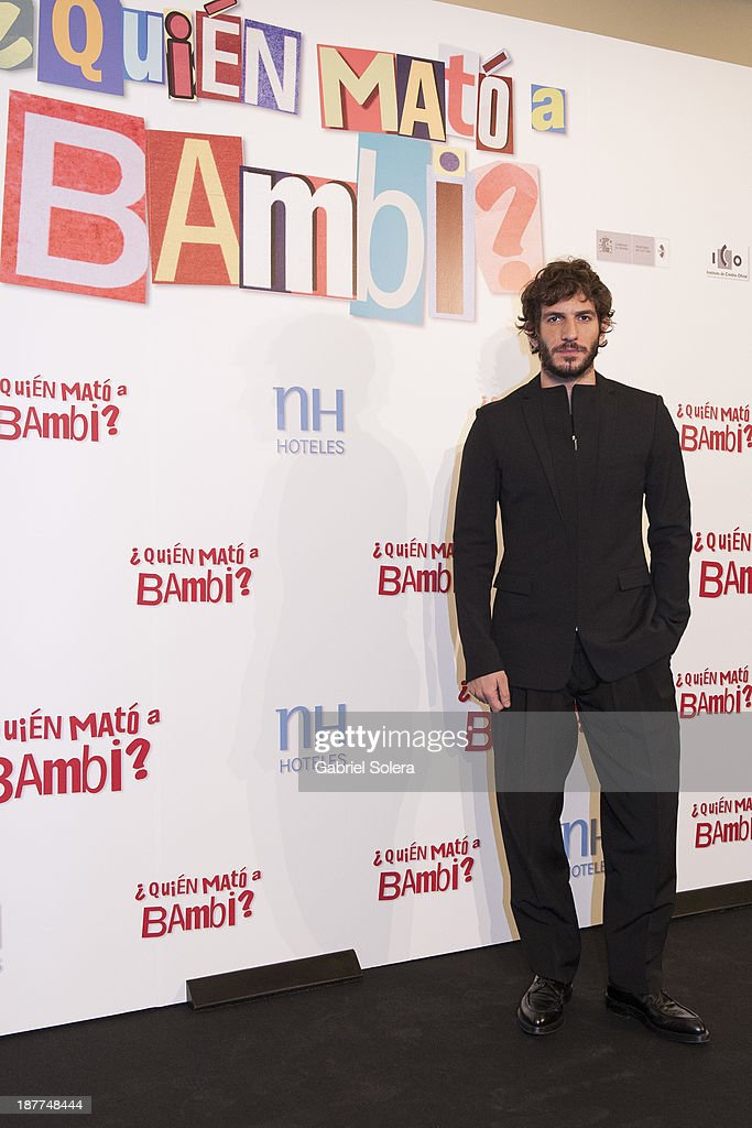Quim Gutierrez attends the '¿Quien Mato a Bambi?' photocall at Hesperia Emperatriz Hotel on November 12, 2013 in Madrid, Spain.