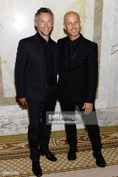 Quin Aluni and Calvin Klein Collection designer Italo Zucchelli attend the amfAR Inspiration Gala New York 2014 at The Plaza Hotel on June 10, 2014...