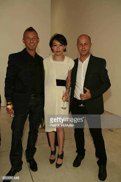 Quin Aluni regina Szeto and Italo Zucchelli attend LOUIS XIII Celebrates WALLPAPER'S Guest Editor LOUISE BOURGEOISE with HELMUT LANG at Cheim Reid...