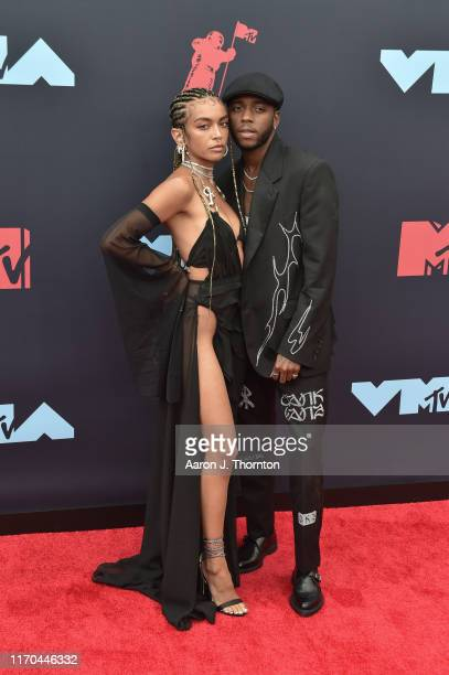 Quin and 6lack attend the 2019 MTV Video Music Awards at Prudential Center on August 26, 2019 in Newark, New Jersey.