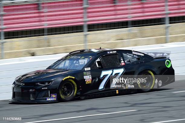 Quin Houff, driver of the Spire Motorsports Chevrolet, practices for the Monster Energy NASCAR Cup Series All-Star Race and the Monster Energy NASCAR...