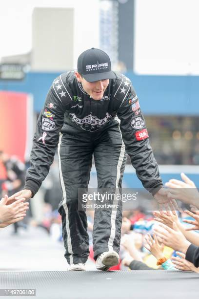 Quin Houff Spire Motorsports Chevrolet prior to the start of the Monster Energy NASCAR Cup Series - FireKeepers Casino 400 on June 9, 2019 at...