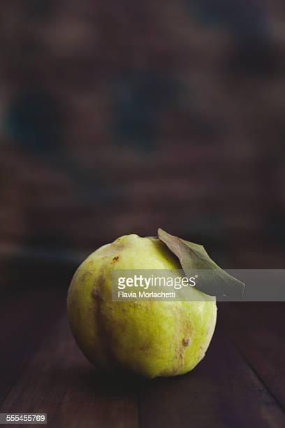 Quince fruit (cydonia oblonga) on dark background