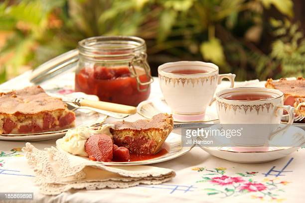 quince pie for afternoon tea - jill harrison stock pictures, royalty-free photos & images