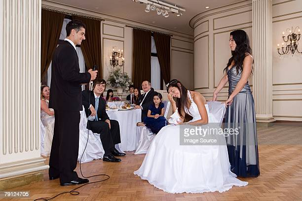 Quinceanera girl being embarrassed