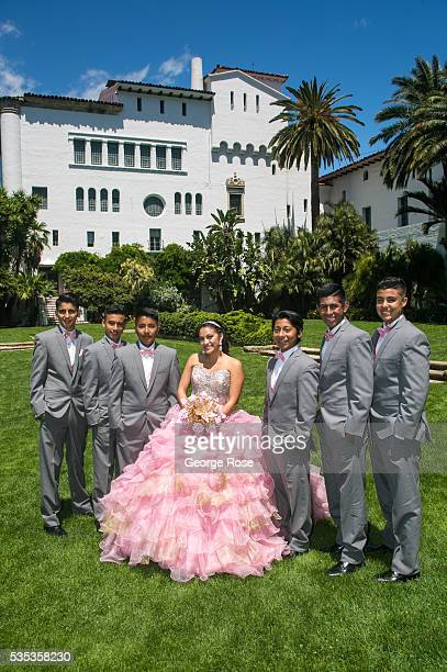 A quinceanera photo session takes place on the Courthouse lawn on May 21 in Santa Barbara California Now home to dozens of new wineries tastings...