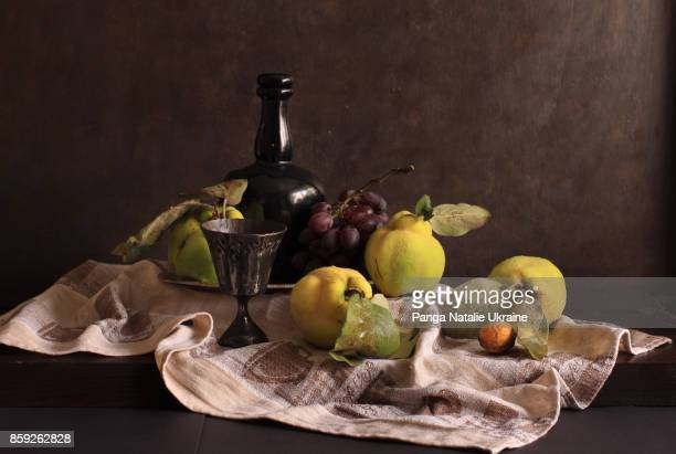 Quinces And Wrought-Iron Wine-Glass