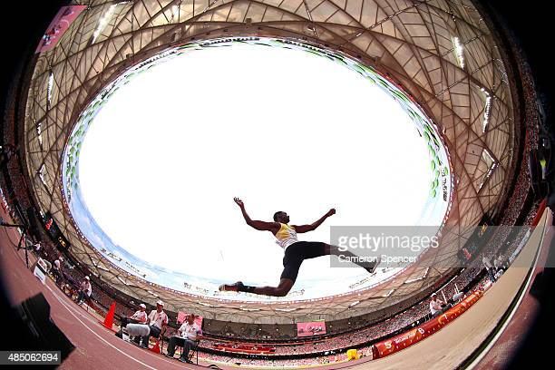 Quincy Breell of Aruba competes in the Men's Long Jump qualification during day three of the 15th IAAF World Athletics Championships Beijing 2015 at...
