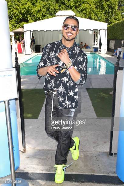 Quincy Brown at the American Express Platinum House at the Avalon Hotel Palm Springs on April 14 2019 in Palm Springs California