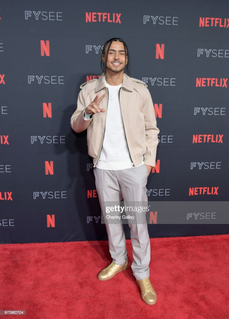 Quincy Brown attends Strong Black Lead party during Netflix FYSEE at Raleigh Studios on June 12, 2018 in Los Angeles, California.