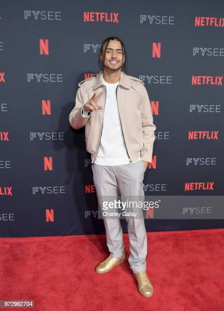 Quincy Brown attends Strong Black Lead party during Netflix FYSEE at Raleigh Studios on June 12 2018 in Los Angeles California