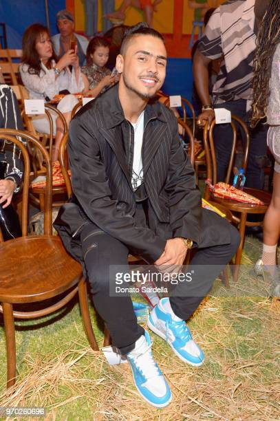 Quincy Brown attends the Moschino Spring/Summer 19 Menswear and Women's Resort Collection at Los Angeles Equestrian Center on June 8 2018 in Burbank...