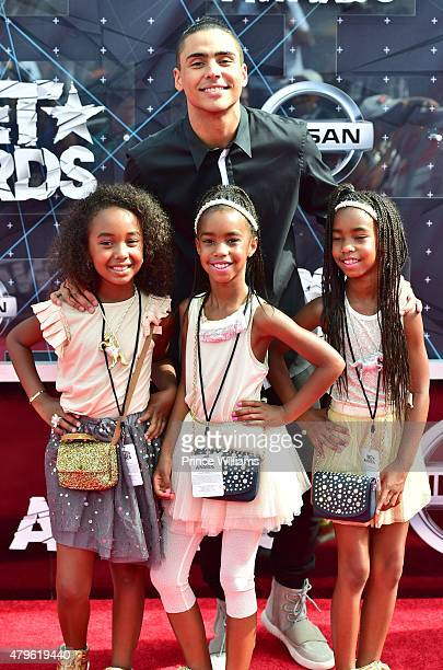 Quincy Brown Chance Combs D'Lila Star Combs and Jessie James Combs attends the 2015 BET Awards on June 28 2015 in Los Angeles California