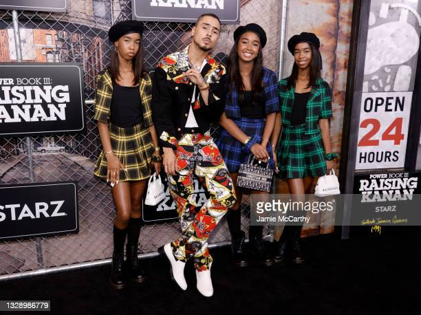 Quincy Brown Chance Combs Jessie Combs and D'Lila Combs attend 'Power Book III: Raising Kanan' global premiere event and screening at Hammerstein...