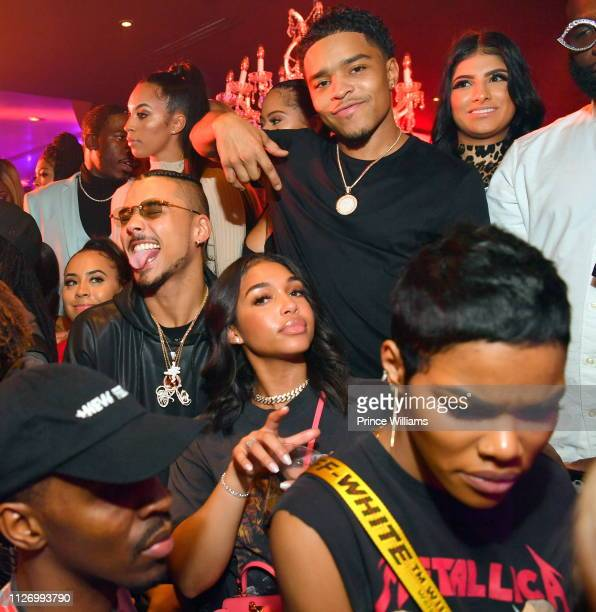 Quincy Brown Lori Harvey Justin Combs and Teyana Taylor attend The Official Big Game Take over Hosted by DiddyJeezyFuture at Compound on February 2...
