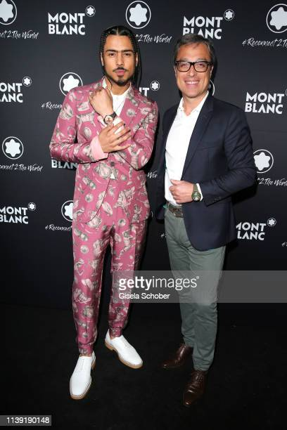 """Quincy Brown, son of P. Diddy, and CEO Montblanc Nicolas Baretzki during the """"To Berlin and Beyond with Montblanc: Reconnect To The World"""" launch..."""