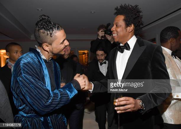 Quincy Combs and Jay-Z attend Sean Combs 50th Birthday Bash presented by Ciroc Vodka on December 14, 2019 in Los Angeles, California.