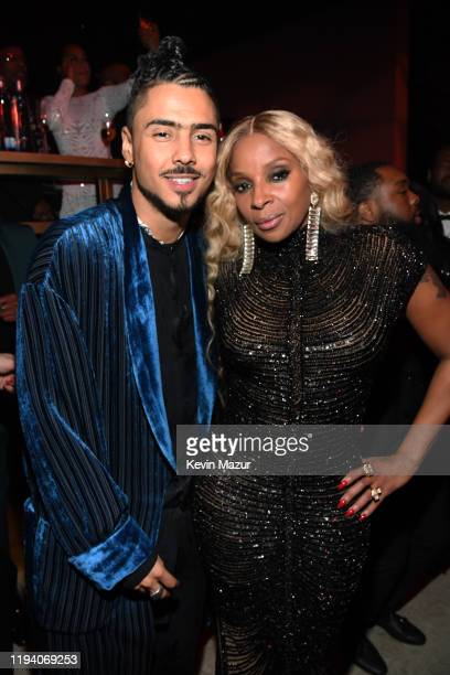Quincy Combs and Mary J Blige attend Sean Combs 50th Birthday Bash presented by Ciroc Vodka on December 14 2019 in Los Angeles California