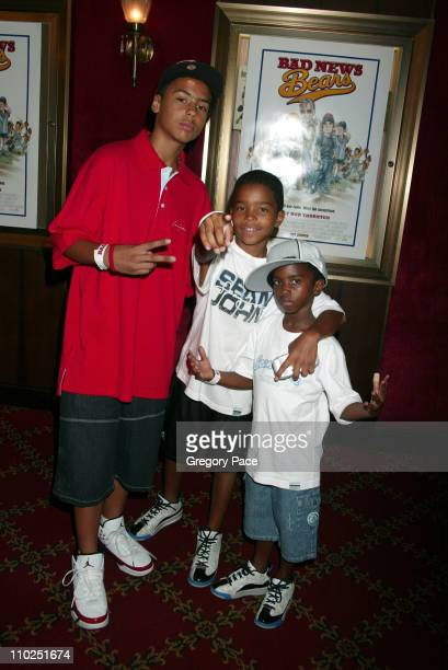 Quincy Combs Justin Combs and Christian Combs sons of Sean P Diddy Combs