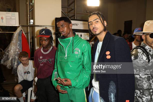 Quincy CombsChristian Combs and Ian Connor pose backstage after the OffWhite Menswear Spring Summer 2019 show as part of Paris Fashion Week on June...
