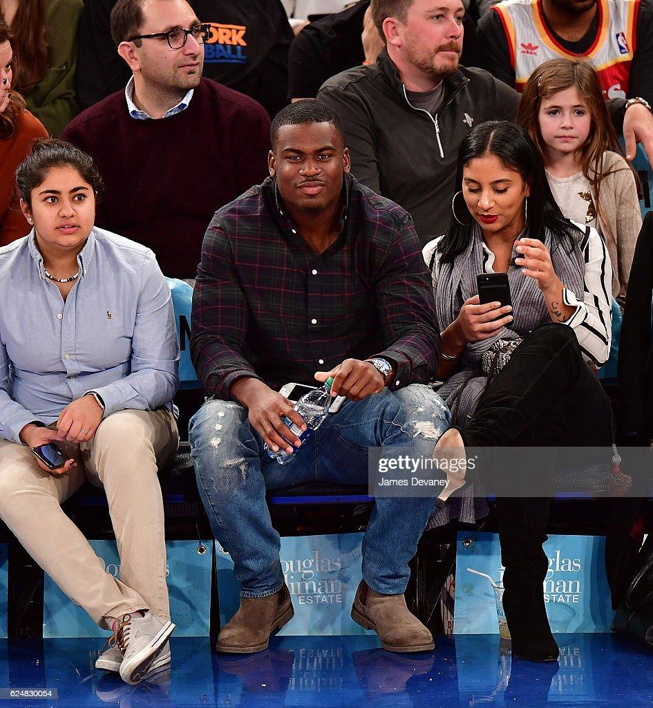 Celebrities Attend Atlanta Hawks Vs. New York Knicks - November 20, 2016