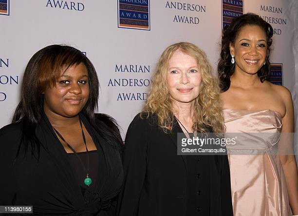 Quincy Farrow Mia Farrow and Pamela Browner White Chair of the Marian Anderson Award attend the 2011 Marian Anderson award gala honoring Mia Farrow...