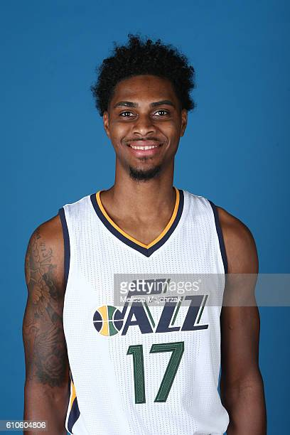 Quincy Ford of the Utah Jazz poses for a headshot during 20162017 Utah Jazz Media Day at Zions Bank Basketball Center on September 26 2016 in Salt...
