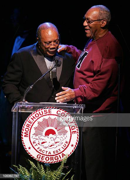 Quincy Jones and Bill Cosby during A Tribute to Ray Charles Hosted by Morehouse College and Bill Cosby Show at Beverly Hilton in Beverly Hills...
