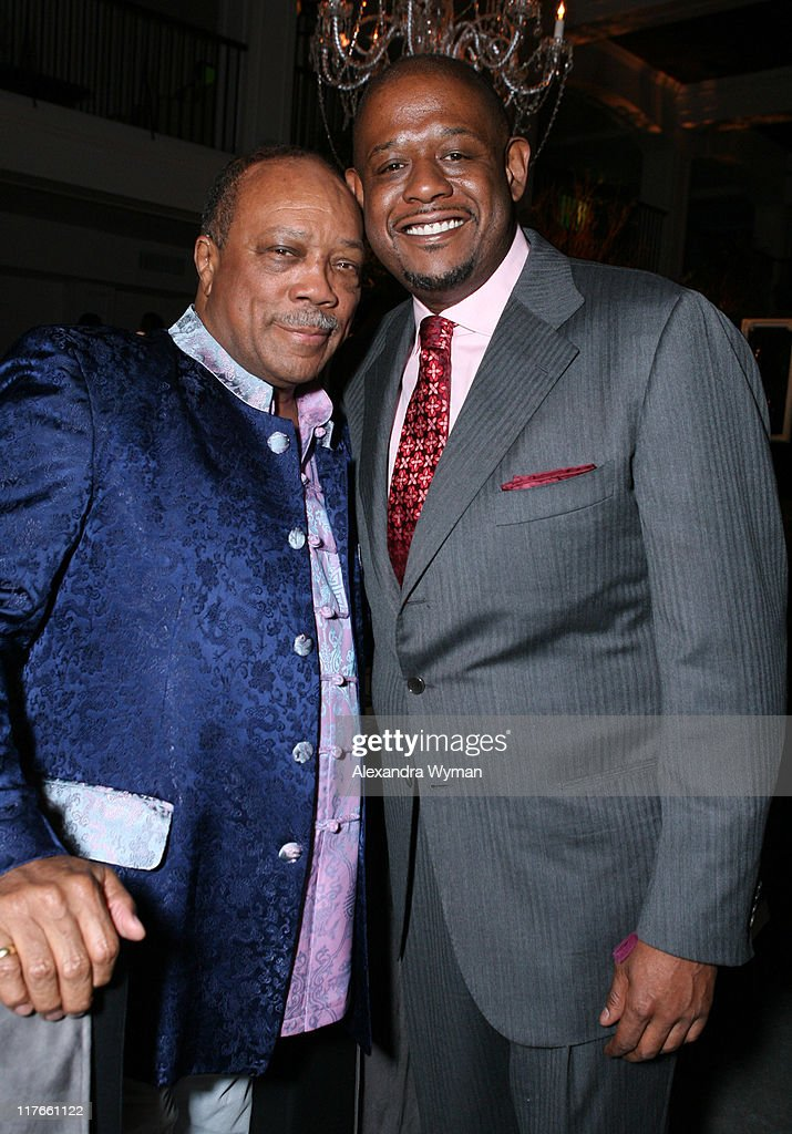 Quincy Jones and Forest Whitaker during Dom Perignon Celebration for Forest Whitaker - February 27, 2007 at Boulevard3 in Hollywood, California, United States.