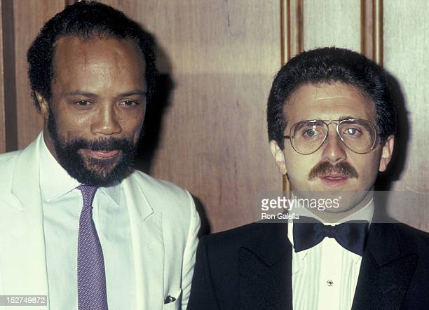 Quincy Jones and Irving Azoff attend Second Annual Producers Guild of America Awards on June 30 1983 at the Century Plaza Hotel in Century City...