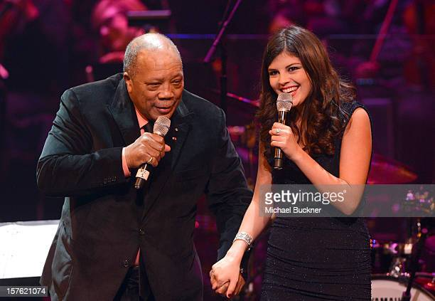 Quincy Jones and Nikki Yanofsky attend a celebration of Carole King and her music to benefit Paul Newman's The Painted Turtle Camp at the Dolby...