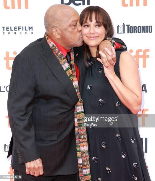 Quincy Jones and Rashida Jones attend the Quincy red carpet premiere on September 9 2018 in Toronto Canada
