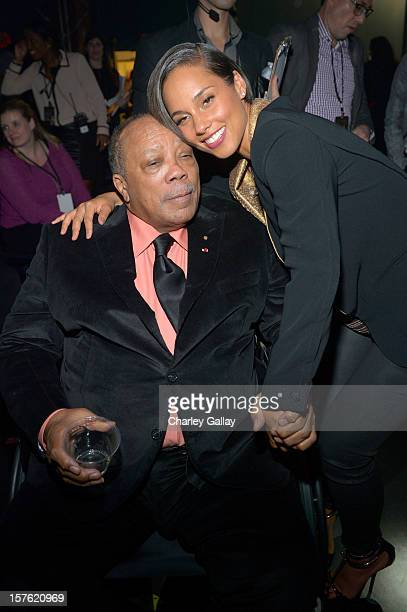 Quincy Jones and singer Alicia Keys attend a celebration of Carole King and her music to benefit Paul Newman's The Painted Turtle Camp at the Dolby...
