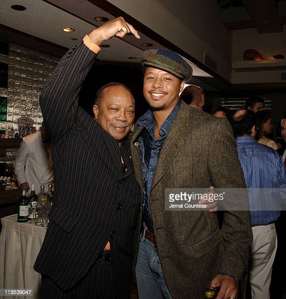 Quincy Jones and Terrence Howard during Quincy Jones Hosts Celebrity Poker Tournament to Benefit the Q Foundation and the Angkor Hospital for...