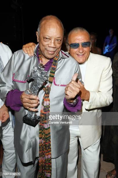 Quincy Jones and Tony Renis attend 2018 Ischia Global Film Music Fest on July 18 2018 in Ischia Italy