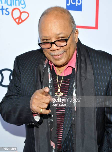 Quincy Jones arrives at the 1st Annual Children Mending Hearts Style Sunday on June 9 2013 in Beverly Hills California