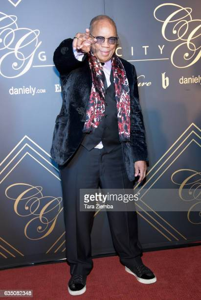 Quincy Jones arrives at the City Gala 2017 at Walt Disney Concert Hall on February 12 2017 in Los Angeles California