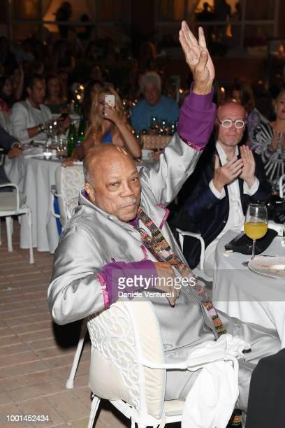 Quincy Jones attends 2018 Ischia Global Film Music Fest on July 18 2018 in Ischia Italy