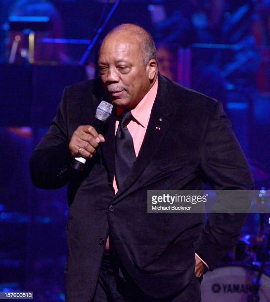 Quincy Jones attends a celebration of Carole King and her music to benefit Paul Newman's The Painted Turtle Camp at the Dolby Theatre on December 4...
