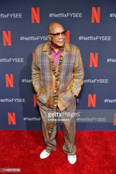 Quincy Jones attends Q's Jook Joint Screening Reception and Toast at Raleigh Studios on May 10 2019 in Los Angeles California