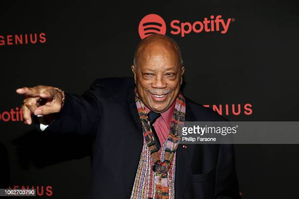 Quincy Jones attends Spotify's 2nd annual Secret Genius Awards at The Theatre at Ace Hotel on November 16 2018 in Los Angeles California