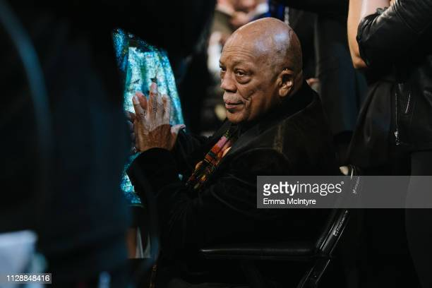 Quincy Jones attends the 61st annual GRAMMY Awards at Staples Center on February 10 2019 in Los Angeles California