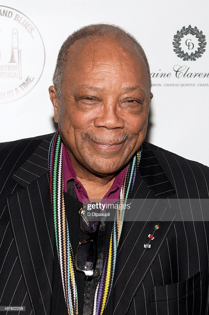 Quincy Jones attends The Jazz Foundation Of America's 13th Annual 'A Great Night In Harlem' Gala Concert at The Apollo Theater on October 24, 2014 in New York City.
