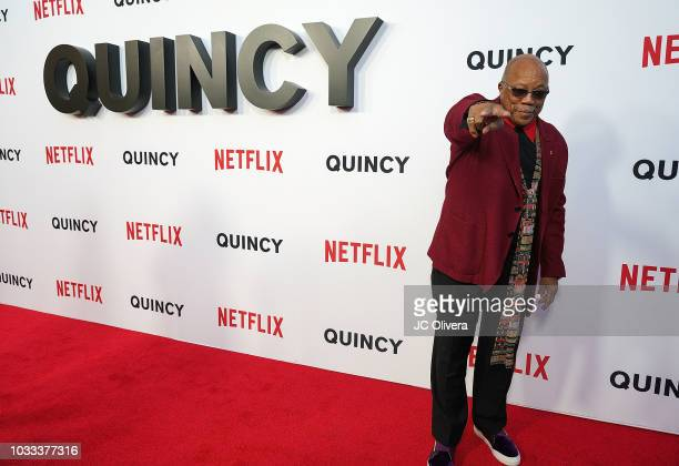 Quincy Jones attends the premiere of Netflix's 'Quincy' at Linwood Dunn Theater on September 14, 2018 in Los Angeles, California.