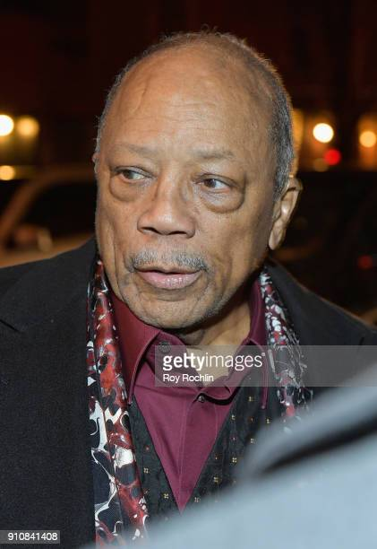 Quincy Jones attends YouTube brings the BOOM BAP BACK to New York City with Lyor Cohen Nas Grandmaster Flash QTip Chuck D and Fab 5 Freddy on January...