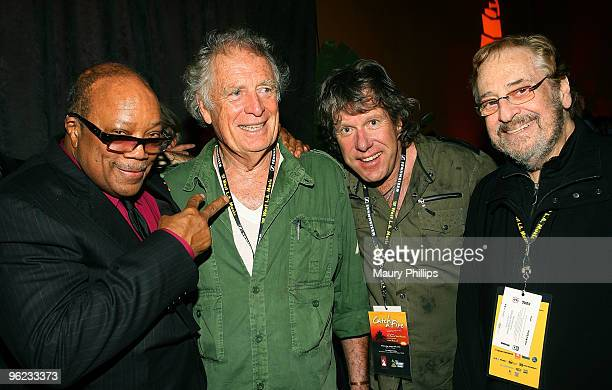"Quincy Jones, Chris Blackwell, Keith Emerson and Phil Ramone attend the ""Catch a Fire"" P&E Wing Event at The Villiage Studios on January 27, 2010 in..."