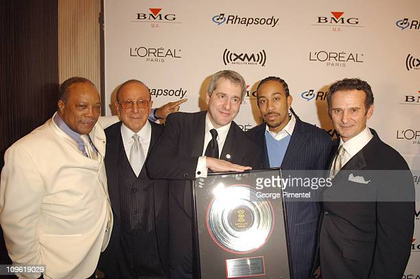 Quincy Jones Clive Davis Hugh Panero President CEO of XM Satellite Radio Ludacris and Charles Goldstuck President COO of BMG Label Group US